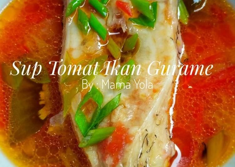 Resep Sup Tomat Ikan Gurame (MPASI 1 Tahun +)