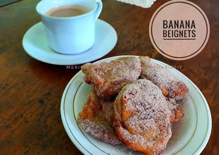 Resep Banana Beignets