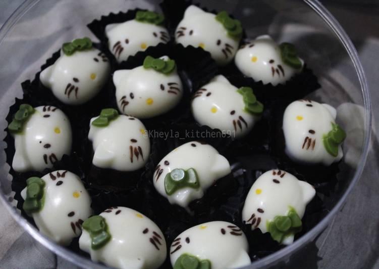 Resep Praline Kacang Coklat Hellokitty + Tips