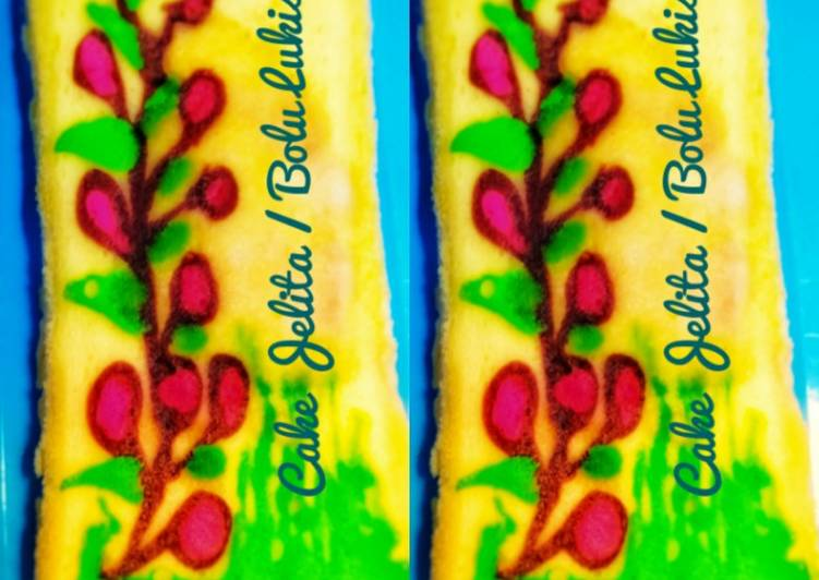 Resep Cake Jelita / Bolu Lukis