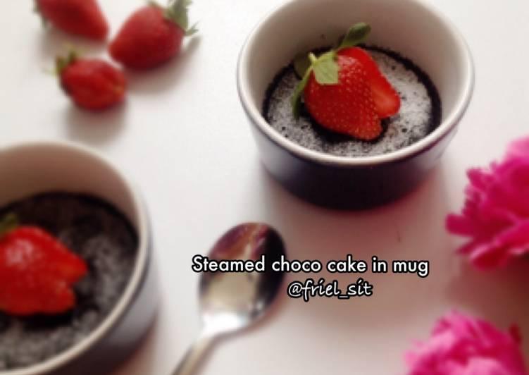 Resep Steamed choco cake in mug, no mixer