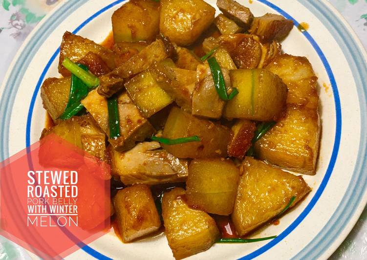 Resep Stewed Roasted Pork Belly with Winter Melon