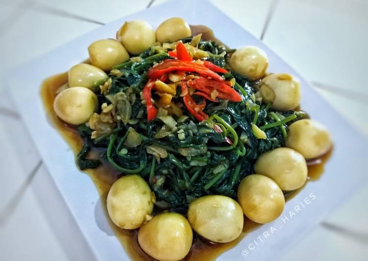 Resep Oseng Kangkung Telur Puyuh