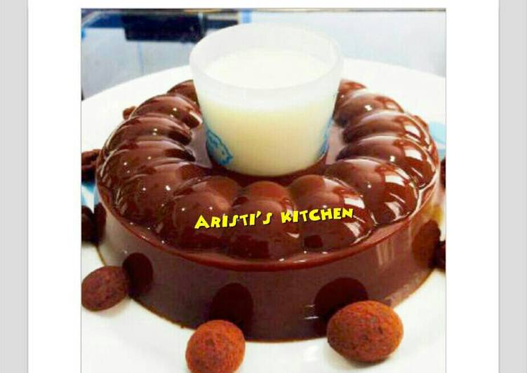 Resep Puding coklat dengan vla vanila