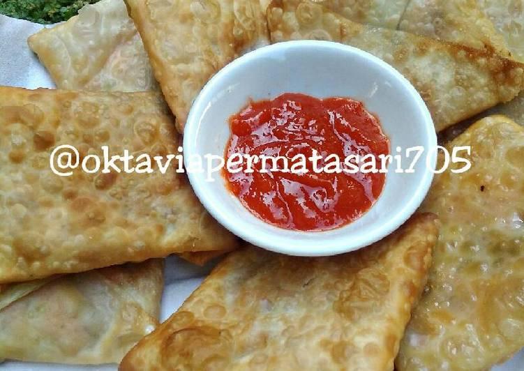 Resep PAYMO (pangsit ayam mozzarella) *14