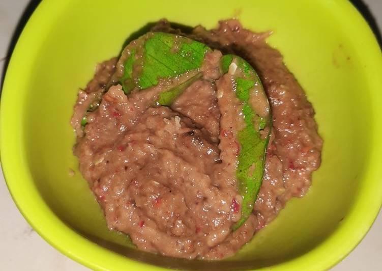 Resep Sambel kacang