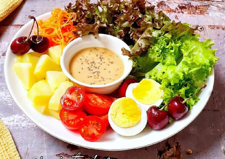 Resep Salad Sayur Saus kacang