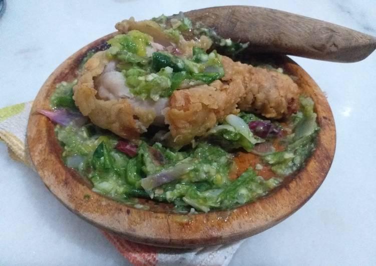 Resep Ayam geprek cabe ijo