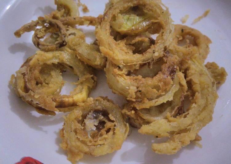 Resep Onion rings/bawang bombay goreng