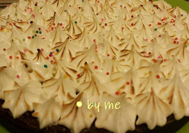 Resep Brownies with snow