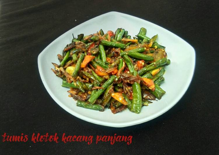 Resep Tumis klotok kacang panjang