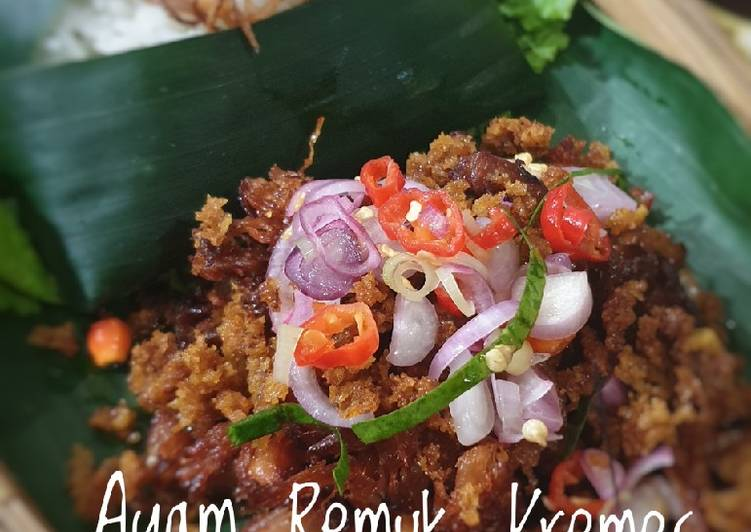 Resep Ayam Remuk Kremes Sambal Matah / Ayam Kremes