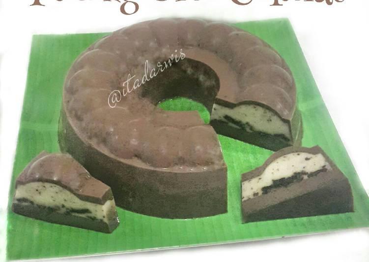 Resep Puding Oreo Cokelat