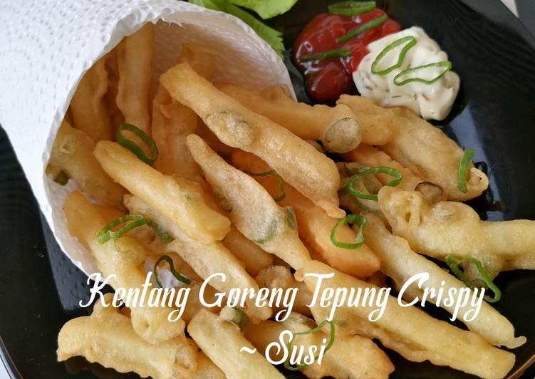 Resep Kentang goreng tepung crispy