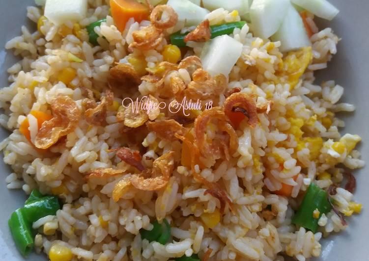 Resep Nasi Goreng mix Vegetable