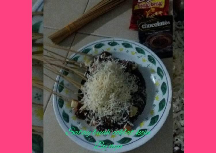 Resep Sate buah coklat keju