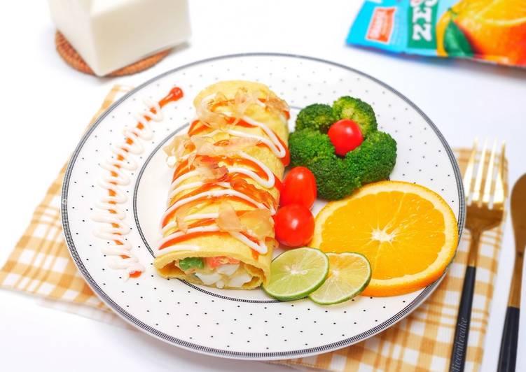 Resep Egg roll Salad / Telur Gulung Isi Salad