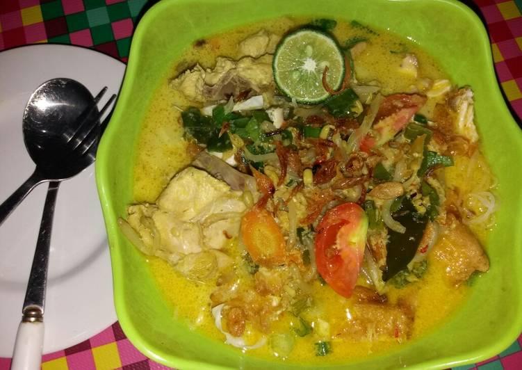 Resep Soto Ayam Kuah Santan/Soto Ayam Betawi Simpel