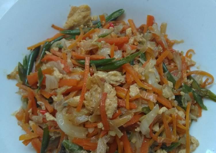 Resep Orak Arik Telor sayuran