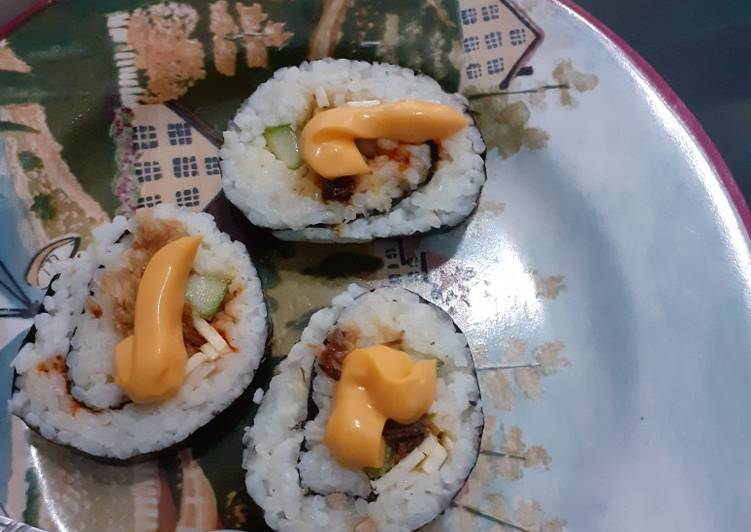 Resep Sushi tuna simple banget