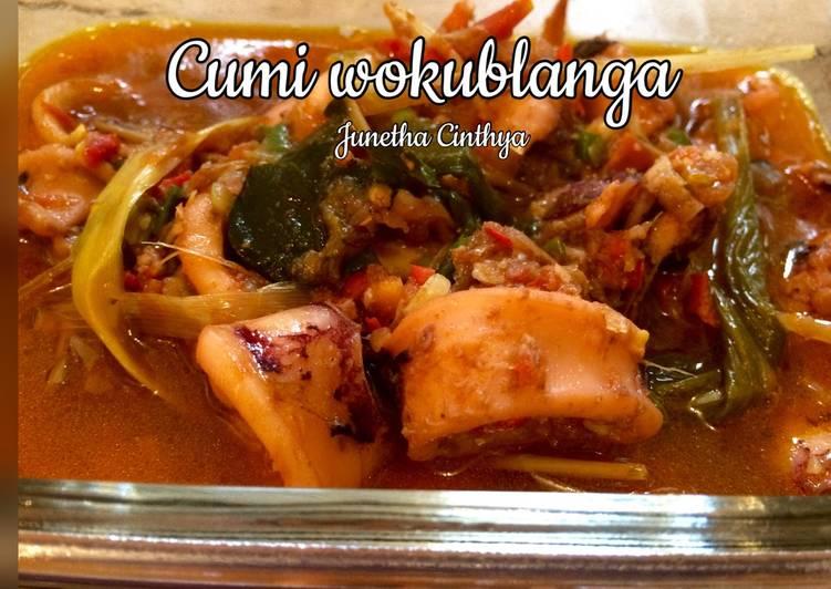 Resep Cumi woku blanga
