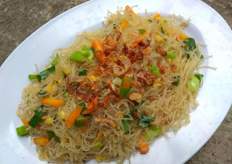 Resep Bihun jagung goreng minimalis