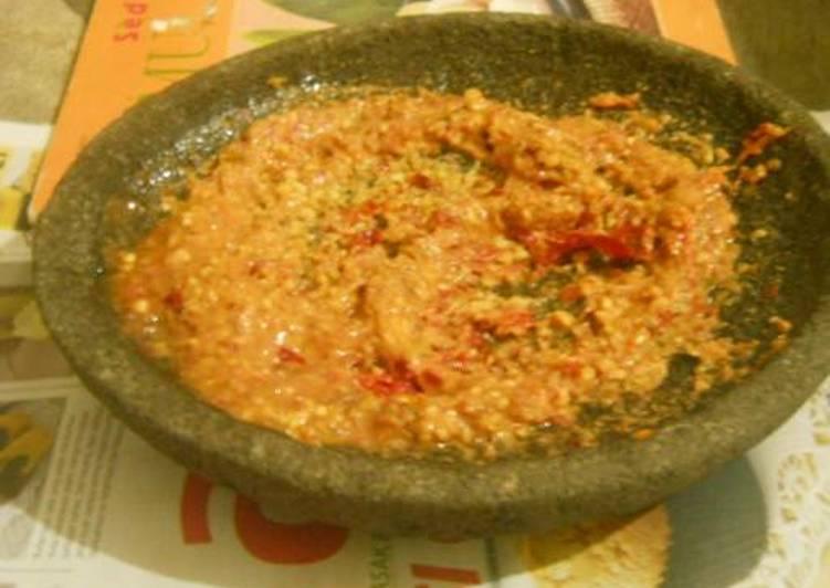 Resep Sambal Kacang with Tomat