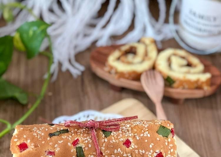 Resep Bolu Gulung Abon (Gluten free)