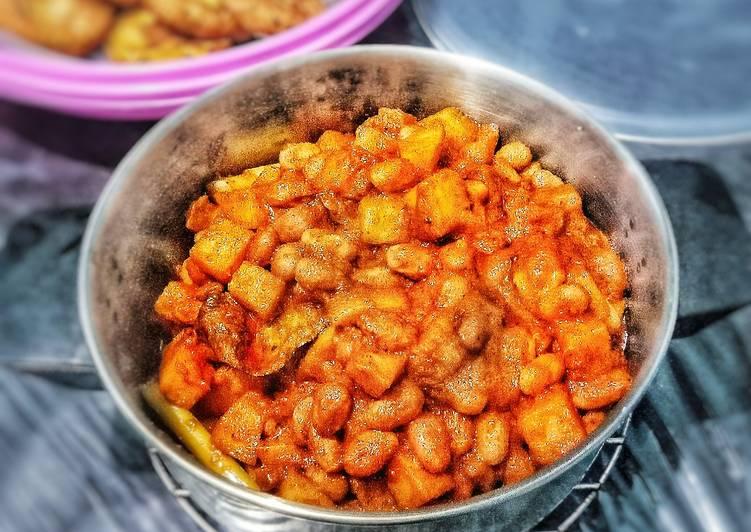 Resep Rendang Kacang Ndul Plus kentang
