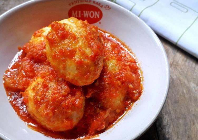 Resep Telur Bumbu Tomat