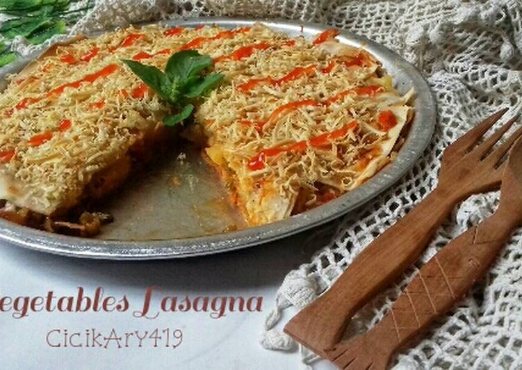 Resep Vegetables Lasagna ekonomis