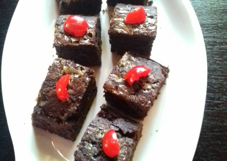 Resep Chewy Brownies Shiny Crust