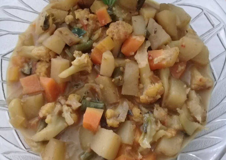Resep Vegetable Curry
