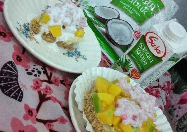 Resep Manggo sticky tart