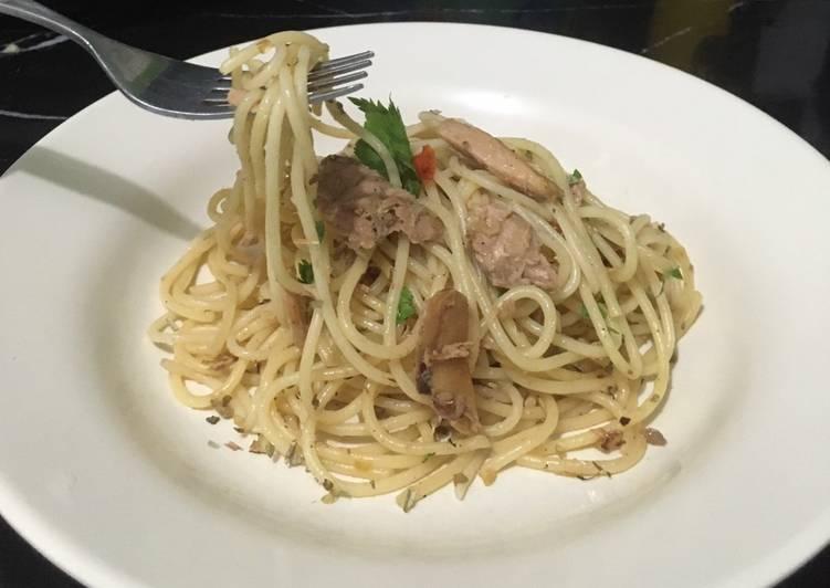 Resep Spaghetti Tuna Simple