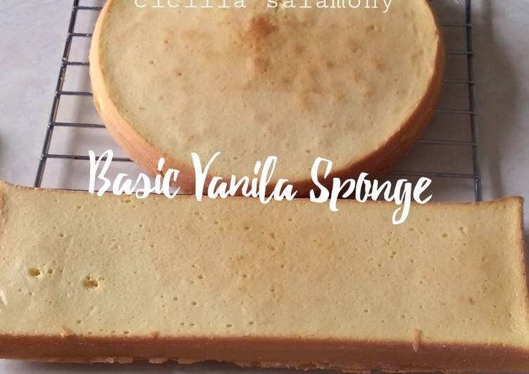 Resep Basic Vanila Sponge
