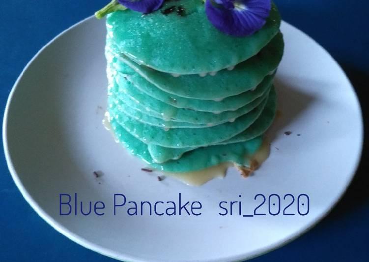 Resep Blue Pancake