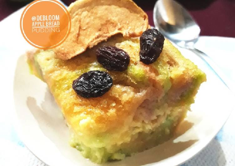 Resep 3Apple Bread Pudding #beranibaking