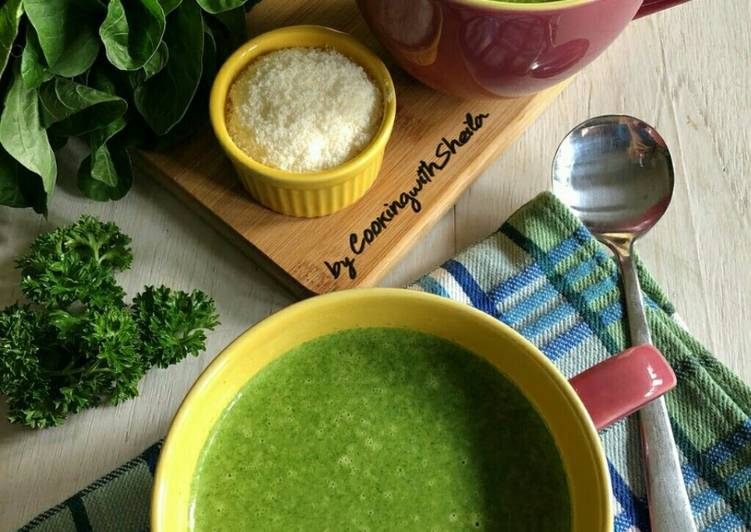 Resep Creamy Spinach Soup