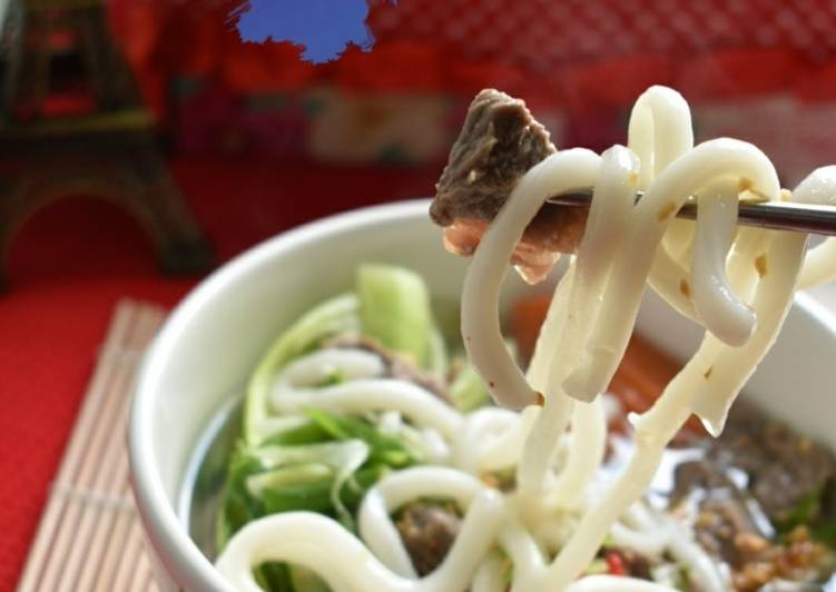 Resep BEEF UDON Soup