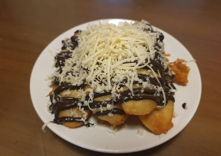 Resep Pisang crispy coklat keju
