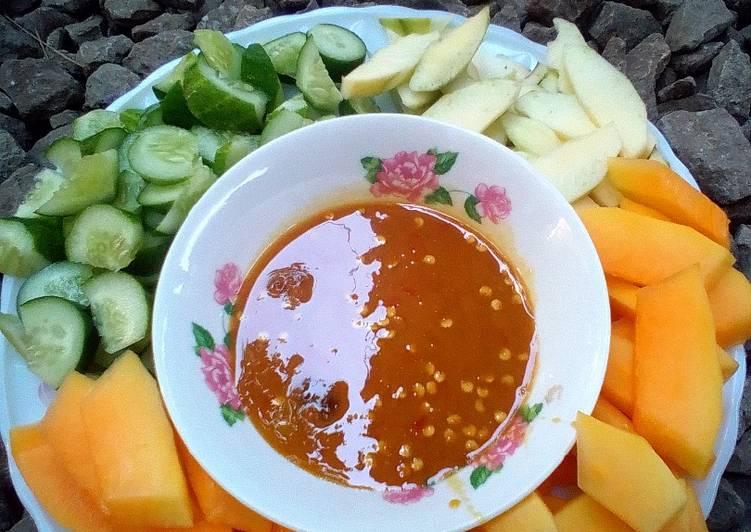 Resep Rujak cocol simpel