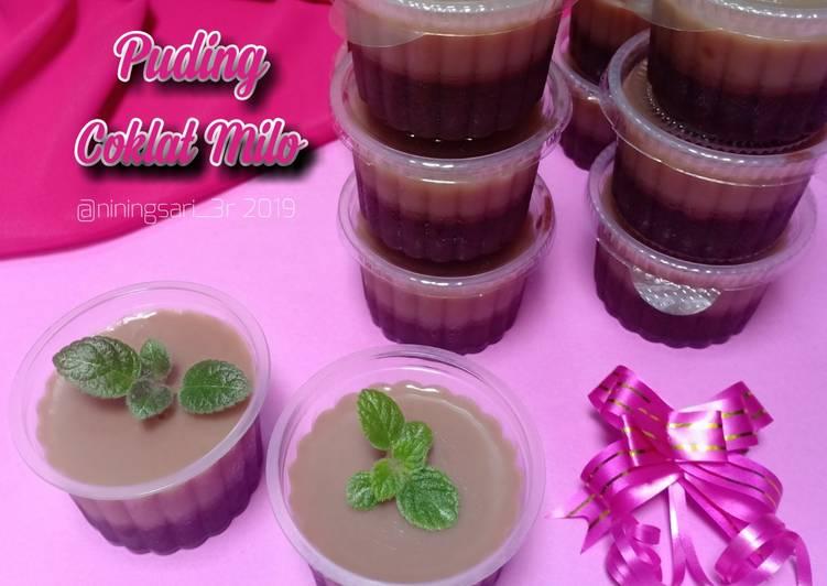 Resep Puding Coklat Milo