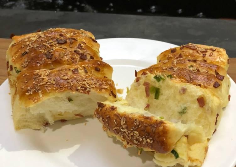 Resep Garlic Scallion Smoke Beef Pull Apart Bread - ROTI LEMBUT EMPUK (2)