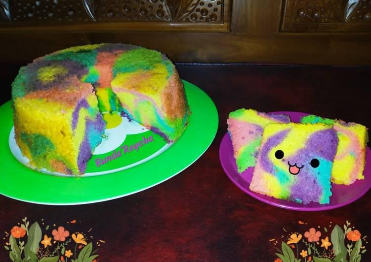 Resep Rainbow Chiffon cake