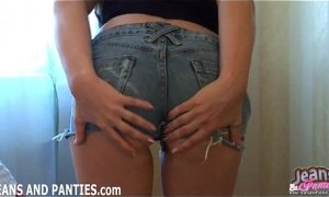 My butt looks amazing in these tight denim jeans 10697764