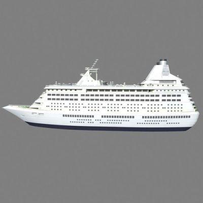 Cruise Ship 3D Model MAX - CGTrader.com