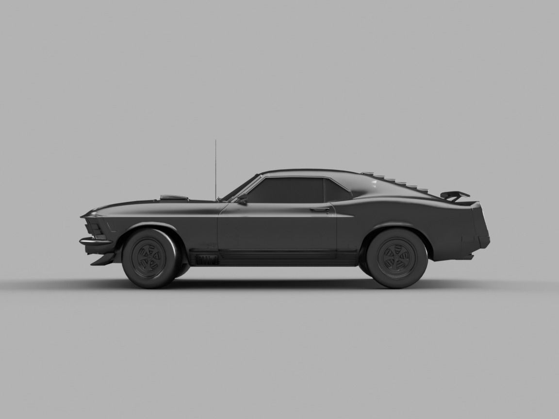 Ford Mustang 1969 Mach 1 3D model   CGTrader ford mustang 1969 mach 1 3d model obj