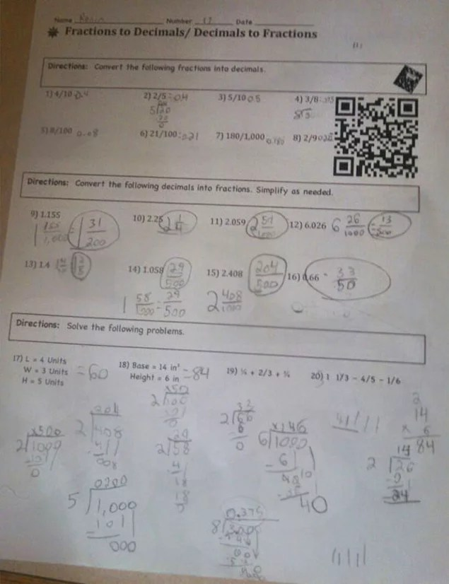 30 Genius School Ideas That Make Learning A Lot More Fun    onedio co This homework sheets have barcodes that when scanned take students to an  instructional YouTube video posted by their teacher related to the lesson