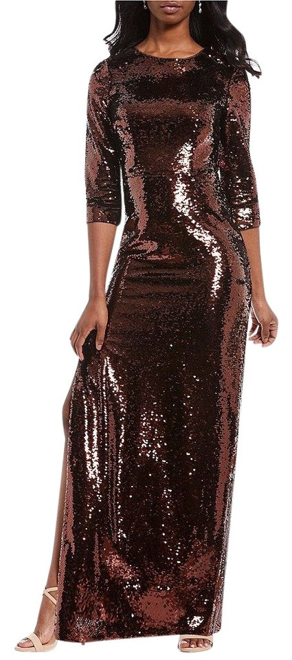 Bronze Gown Long Sleeve Dresses